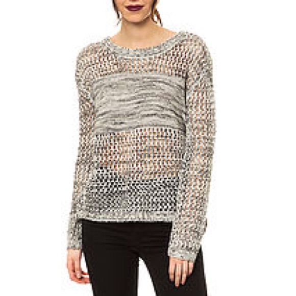c4dbc9e35b9 Jack by BB Dakota Sweaters - Jack by BB Dakota Tovah Metallic Open Knit  Sweater